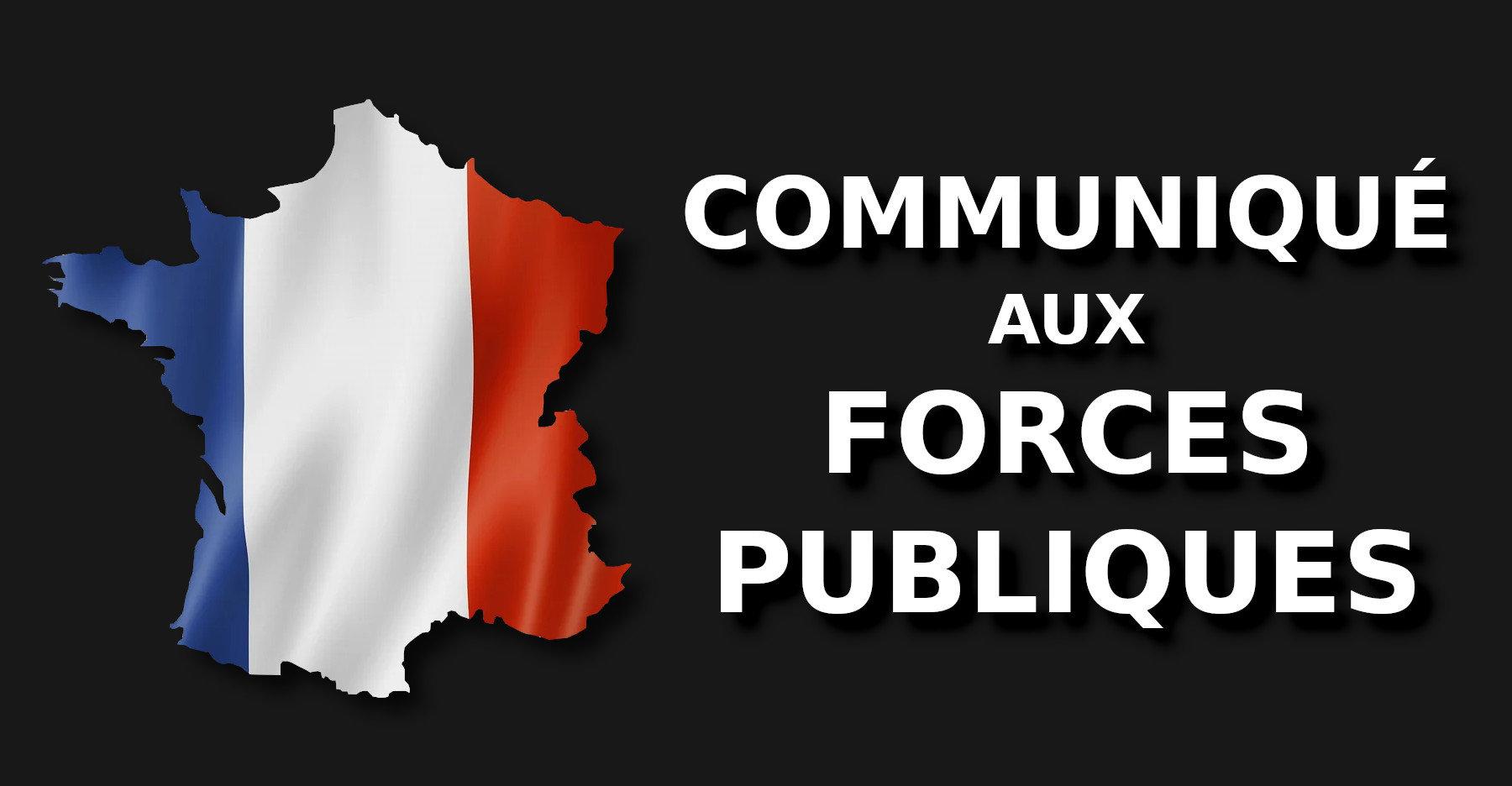 Communique Aux Forces Publiques
