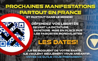 DATES MANIFESTATIONS FRANCE