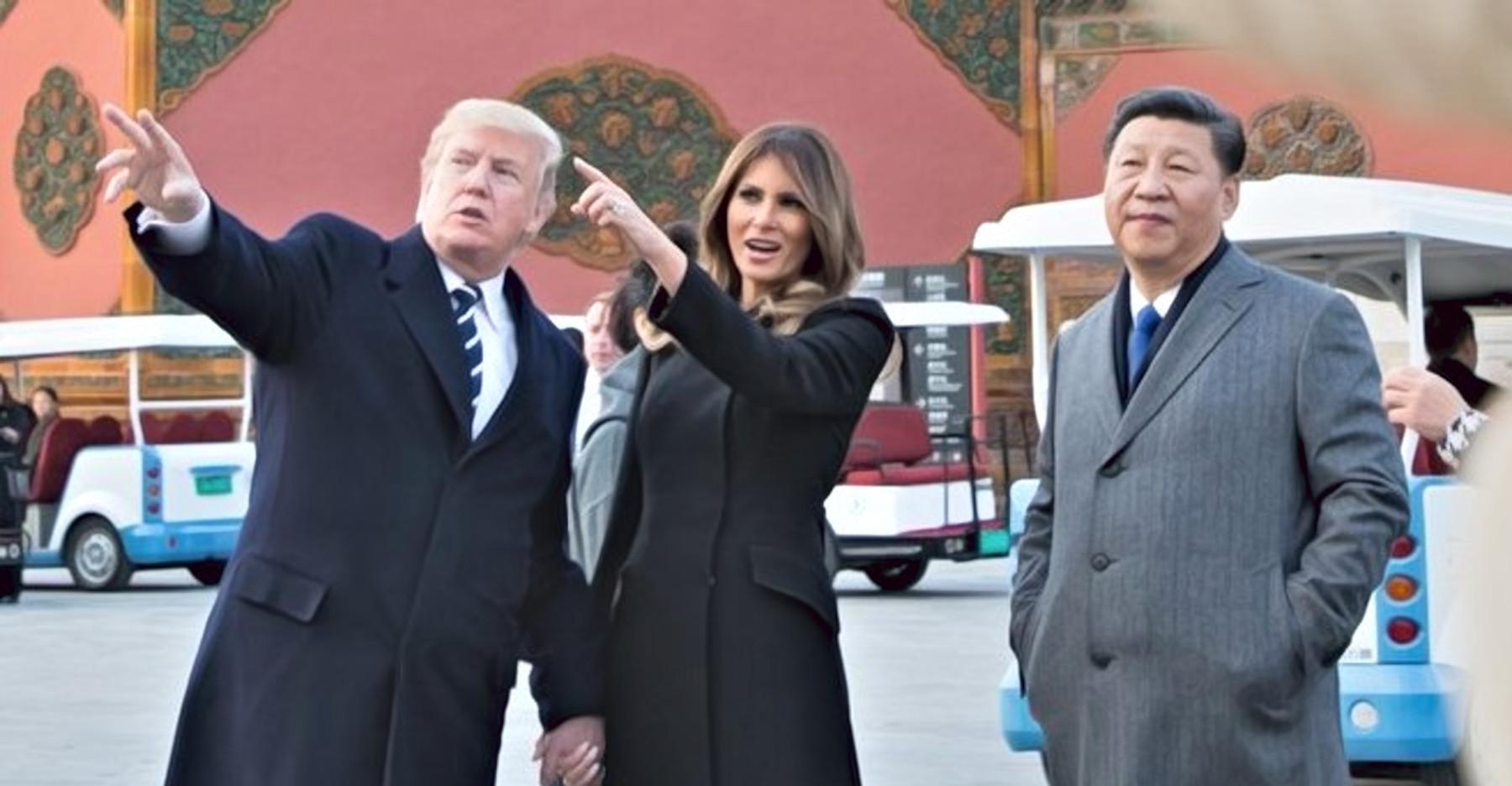 Donald Trump, Melania Trump, Xi Jinping
