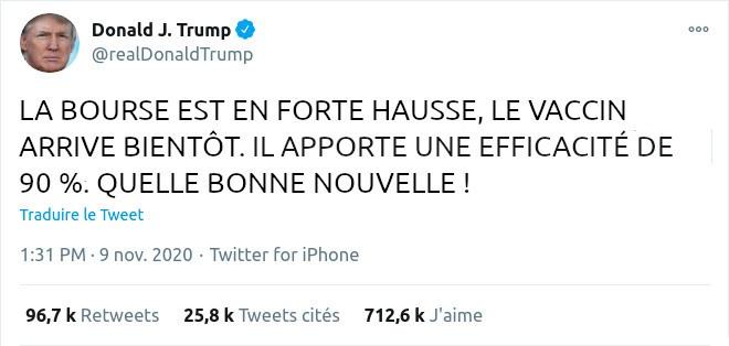 Donald Trump Tweet 1:31 Pm 9 Nov. 2020
