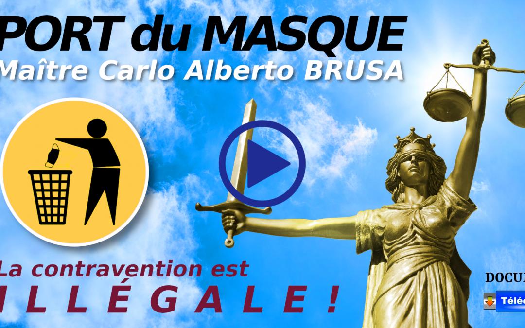 PORT DU MASQUE: L'AMENDE EST ILLÉGALE!