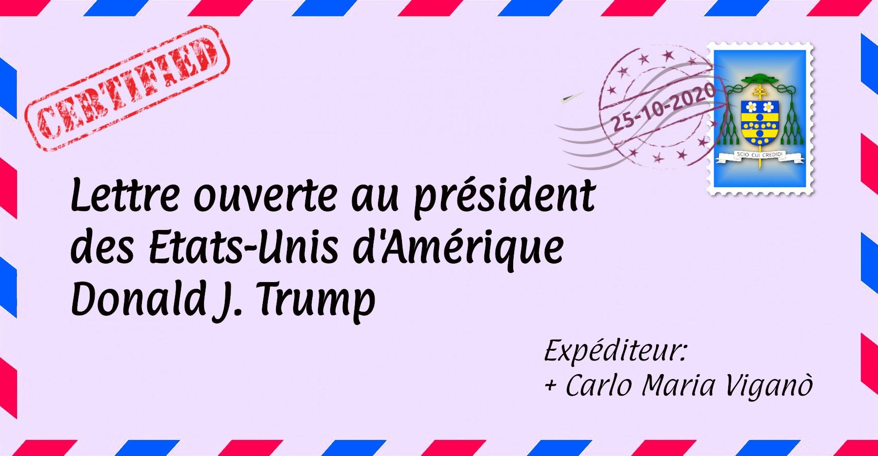 Lettre ouverte au président des États-Unis d'Amérique Donald J. Trump par + Carlo Maria Viganò