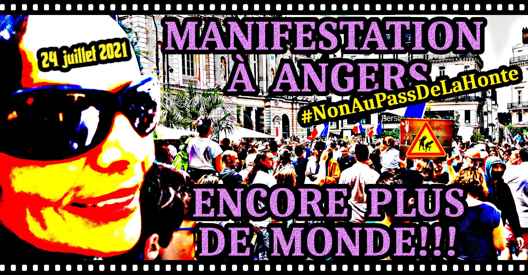 Manifestations à Angers, le 24 juillet 2021.