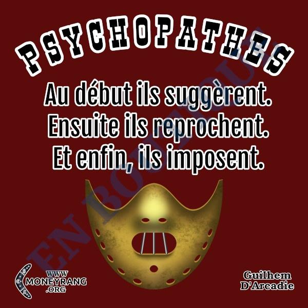 Les psychopathes suggèrent